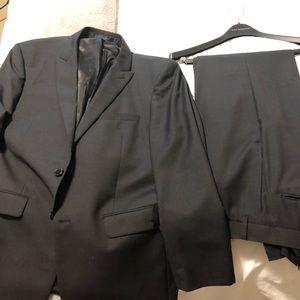 Calvin Klein Extreme Slim Fit Black 2 button suit